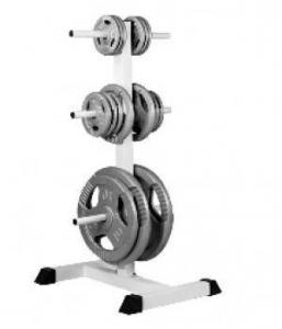 Hvidt vægtstativ til vægtskiver