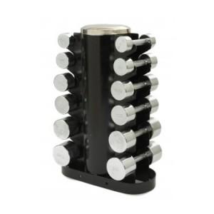 Komplet chrom håndvægtsæt 2,3,4,5,7,9 kg fra abilicaonline.dk