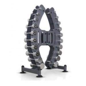 Komplet chrom håndvægtsæt 1-10 kg fra getbig.dk