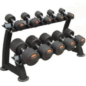 Peak Fitness gummi håndvægte 12 - 20 kg. inkl. stativ fra fitnessgruppen.dk