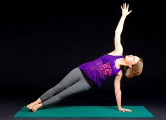 Yoga på træningsmåtte